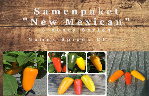 "Samenpaket ""New Mexican"" 3 Sorten Numex Spices Chili"